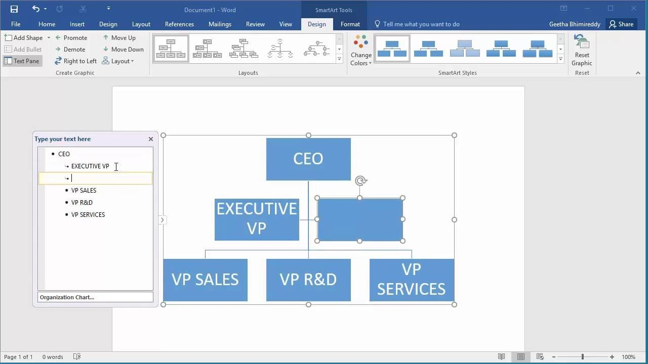 How To Create An Organization Chart In Word Intended For Word Org Chart Template