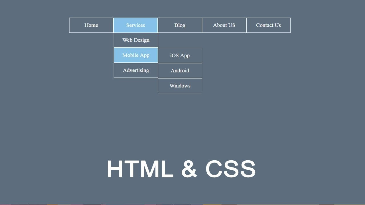 How To Create Drop Down Menu In Html And Css  Dropdown Menu Pertaining To Html5 Drop Down Menu Template