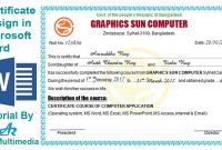 How To Create Professional Certificate In Word Certificate inside Professional Certificate Templates For Word