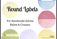 How To Create Your Own Round Labels The Nerdy Farm Wife  Labels for Templates For Labels For Jars