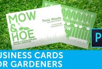 How To Design A Business Card For Gardeners  Solopress for Gardening Business Cards Templates