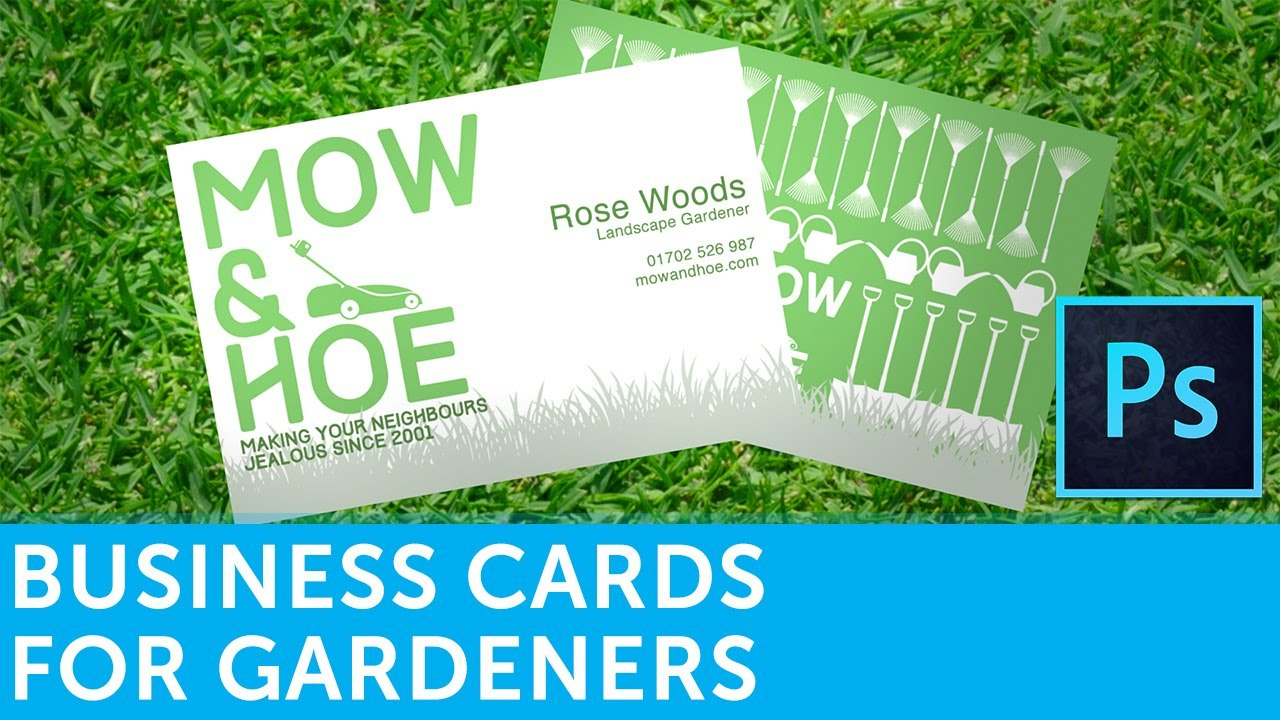 How To Design A Business Card For Gardeners  Solopress Throughout Landscaping Business Card Template