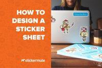 How To Design A Sticker Sheet Adobe Illustrator  Youtube for Adobe Illustrator Label Template