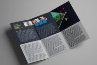 How To Design A Tri Fold Brochure Template  Photoshop Tutorial regarding Tri Fold Menu Template Photoshop