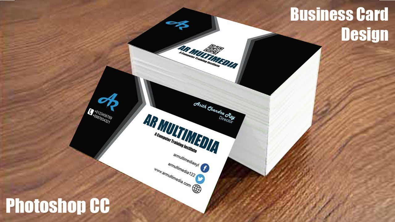 How To Design Business Card In Adobe Photoshop Ccgraphic Design With Create Business Card Template Photoshop