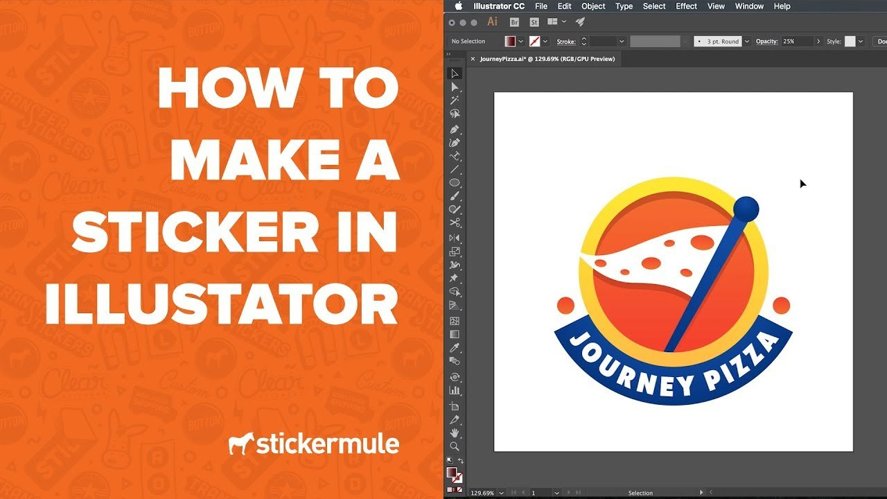 How To Design Stickers In Illustrator  Youtube For Adobe Illustrator Label Template