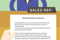 How To Draft A Sales Representative Agreement With Pictures with Sales Representation Agreement Template