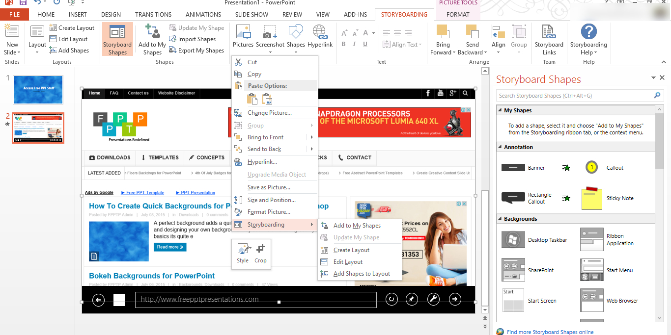How To Enable Storyboard Option In Powerpoint  Download Free With Regard To Powerpoint Default Template