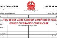 How To Get Good Conduct Certificate In Uae  Uae Labours with Good Conduct Certificate Template