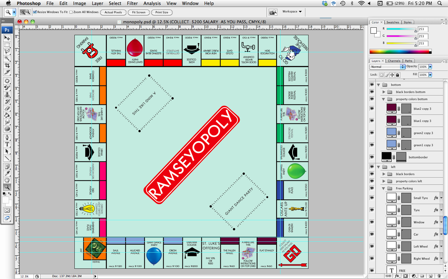 How To How Hard And How Much How To Make A Personalized Monopoly Pertaining To Monopoly Property Cards Template