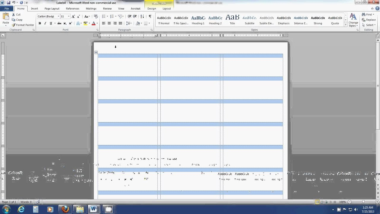 How To Insert An Image Into A Label Template Sheet In Word  Youtube Pertaining To Template For Address Labels In Word