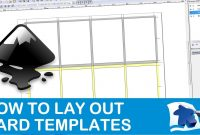 How To Lay Out A Card Template  Dining Table Print  Play  Youtube in Frequent Diner Card Template