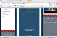 How To Make A Brochure In Microsoft Word  Youtube in Ms Word Brochure Template