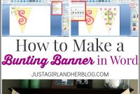 How To Make A Bunting Banner In Word With Clip Art Tips And Tricks in Banner Template Word 2010