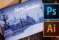 How To Make A Christmas Card With Photoshop Or Illustrator  Youtube In Adobe Illustrator Christmas Card Template