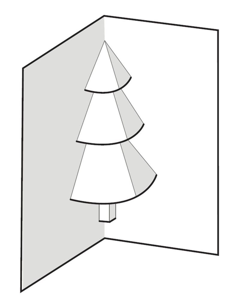How To Make A Popup Christmas Tree Card  Steps Within Pop Up Tree Card Template