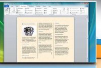 How To Make A Trifold Brochure In Microsoft® Word   Youtube with Brochure Templates For Word 2007