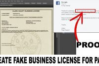 How To Make Fake Document  Business License For Facebook Page pertaining to Fake Business License Template