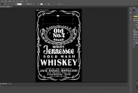 How To Make Jack Daniels Logo In Photoshop Quick  Easy  Youtube pertaining to Blank Jack Daniels Label Template