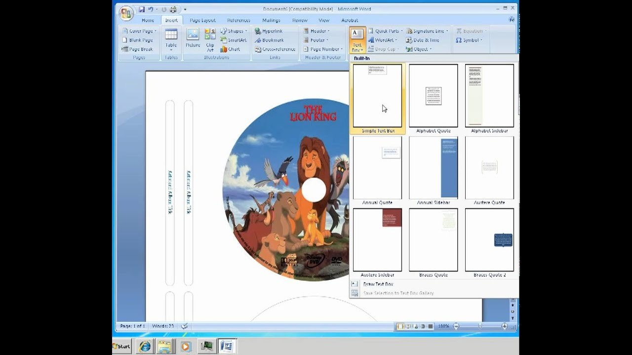 How To Make Labels For Cd Dvd Disc  Youtube Intended For Microsoft Office Cd Label Template