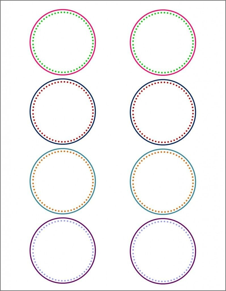How To Make Pretty Labels In Microsoft Word  Free Printable Regarding 1.5 Circle Label Template