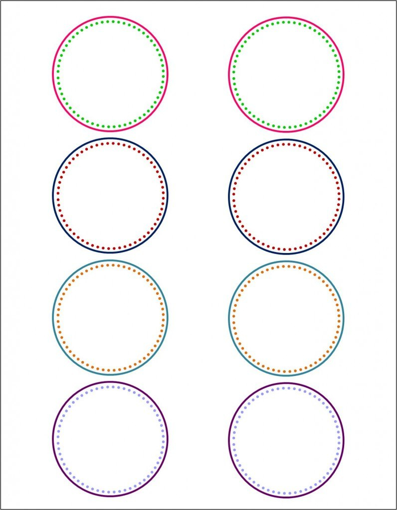 How To Make Pretty Labels In Microsoft Word Intended For Round Sticker Labels Template