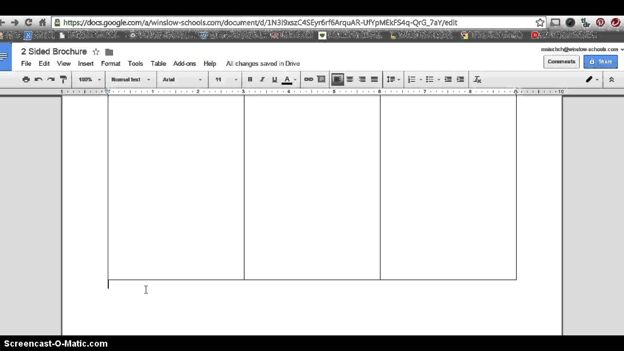 How To Make  Sided Brochure With Google Docs  Youtube In Google Docs Tri Fold Brochure Template