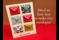 How To Make Tiny Envelope And A Card Tutorial  Youtube within Envelope Templates For Card Making