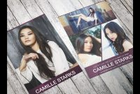 How To Make Your Own Model Comp Card In Photoshop throughout Free Model Comp Card Template Psd