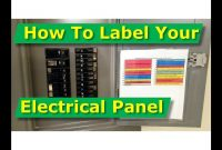 How To Map Out Label Your Electrical Panelfuse Panel Diagram  Youtube with Electrical Panel Labels Template