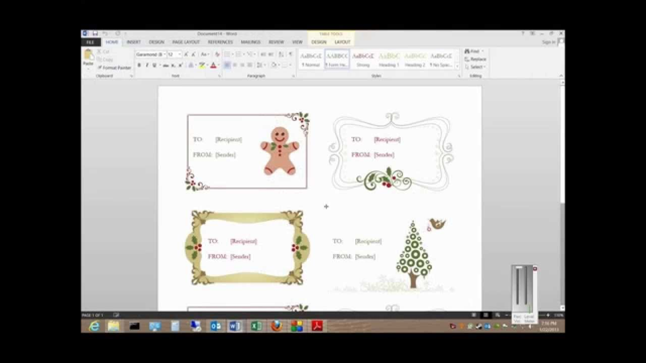 How To Print Labels From A Free Template In Microsoft Word Pertaining To Template For Address Labels In Word