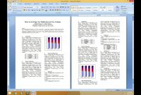 How To Set Two Column Paper For Publication  Youtube in Ieee Template Word 2007