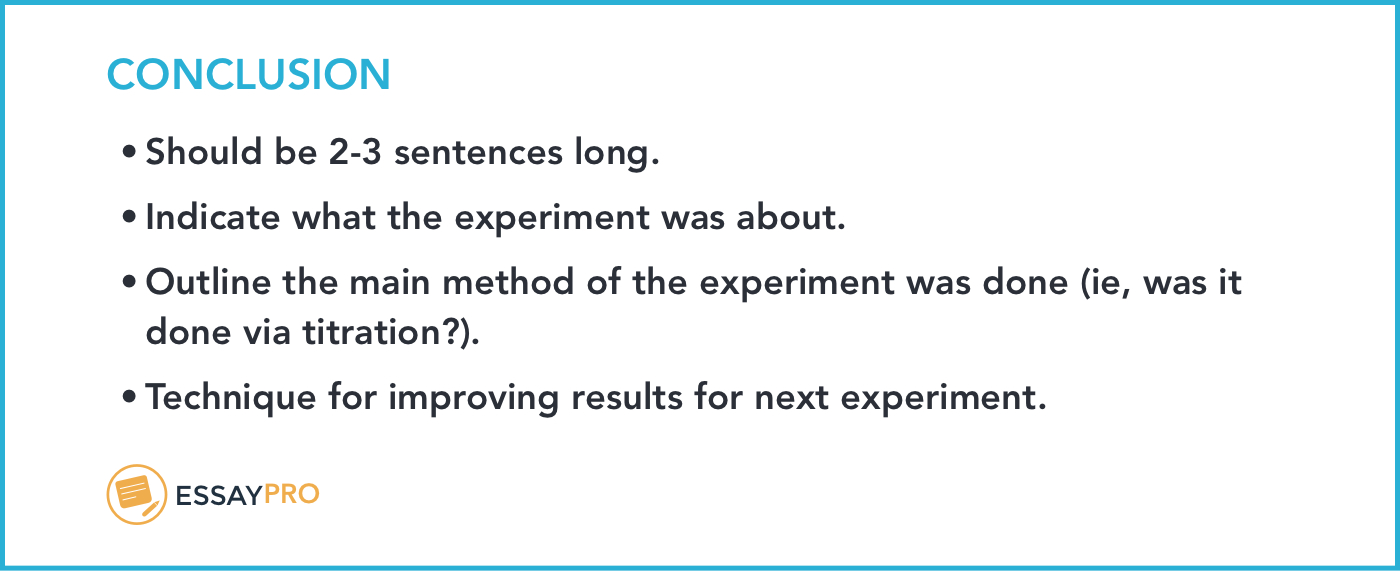 How To Write A Lab Report Format Examples  Essaypro In Lab Report Conclusion Template