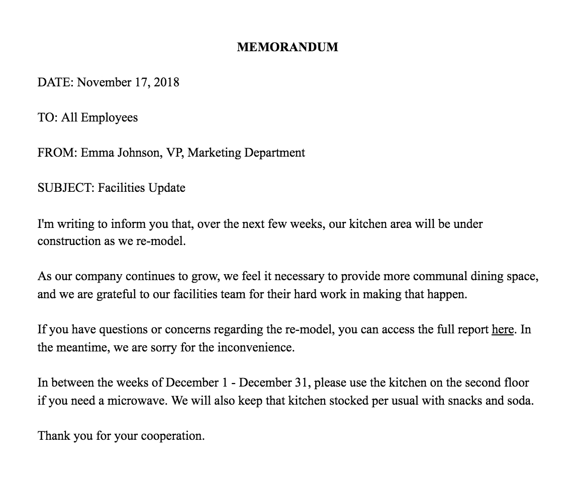 How To Write A Memo Template  Examples Inside Simple Employee Separation Agreement Template