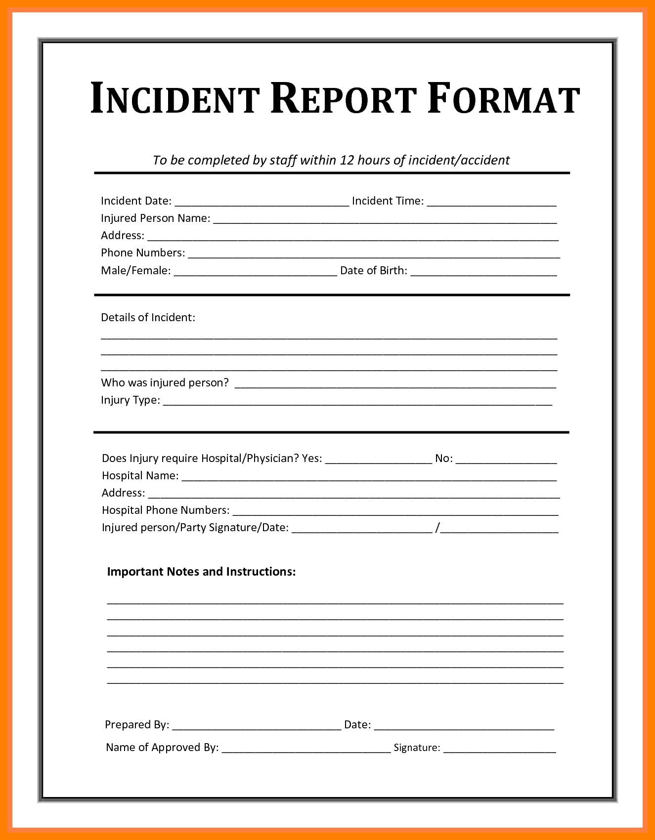 How To Write A Report Of An Incident  Sansurabionetassociats Pertaining To Ohs Monthly Report Template