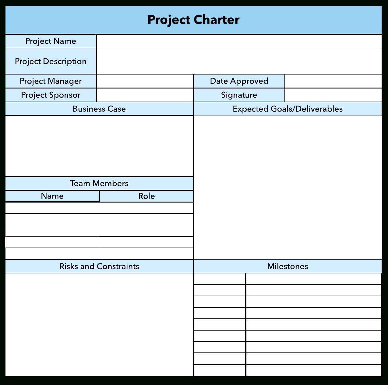 How To Write A Winning Project Charter  Lucidchart Blog For Business Charter Template Sample