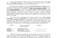 How To Write Notarized Board Resolution Sample Philippines intended for Corporate Secretary Certificate Template