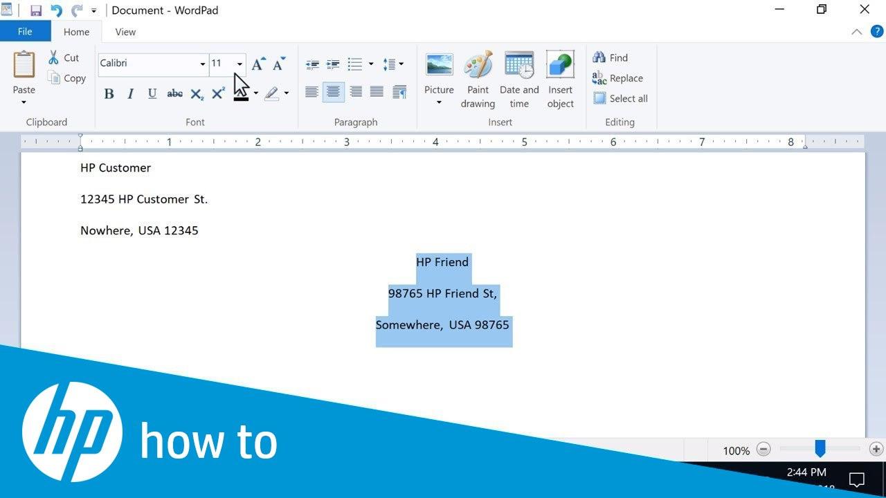 Hp Printers  Printing Envelopes Windows  Hp® Customer Support In Word 2013 Envelope Template