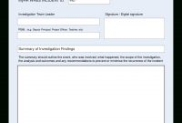 Hse Health Safety Incident Investigation Report  Templates At with Hse Report Template