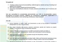 Hse Management  Sustainability  Samsung Engineering inside Health And Safety Policy Template For Small Business