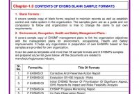 Hse Sample Forms  Pdf Flipbook in Hse Report Template