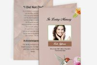 Hummingbird Funeral Card  Funeral Pamphlets for Memorial Card Template Word