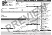 Hvac Invoice Form Time  Materials Work Order  Hvac Sticker in Time And Material Invoice Template