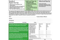 Hvac Maintenance Agreement Form C Terms On Backside  Hvac Sticker inside Pilot Test Agreement Template