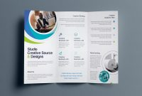 Hypnosis Professional Trifold Brochure Template   Brochure in Free Tri Fold Business Brochure Templates