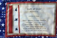 I Created This Quilt Of Valor Label For My St Qov Quilt with regard to Quilt Label Template