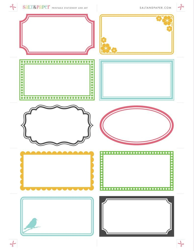 I Love These Printable Labels  Craft Ideas  Printable Labels Within Craft Label Templates