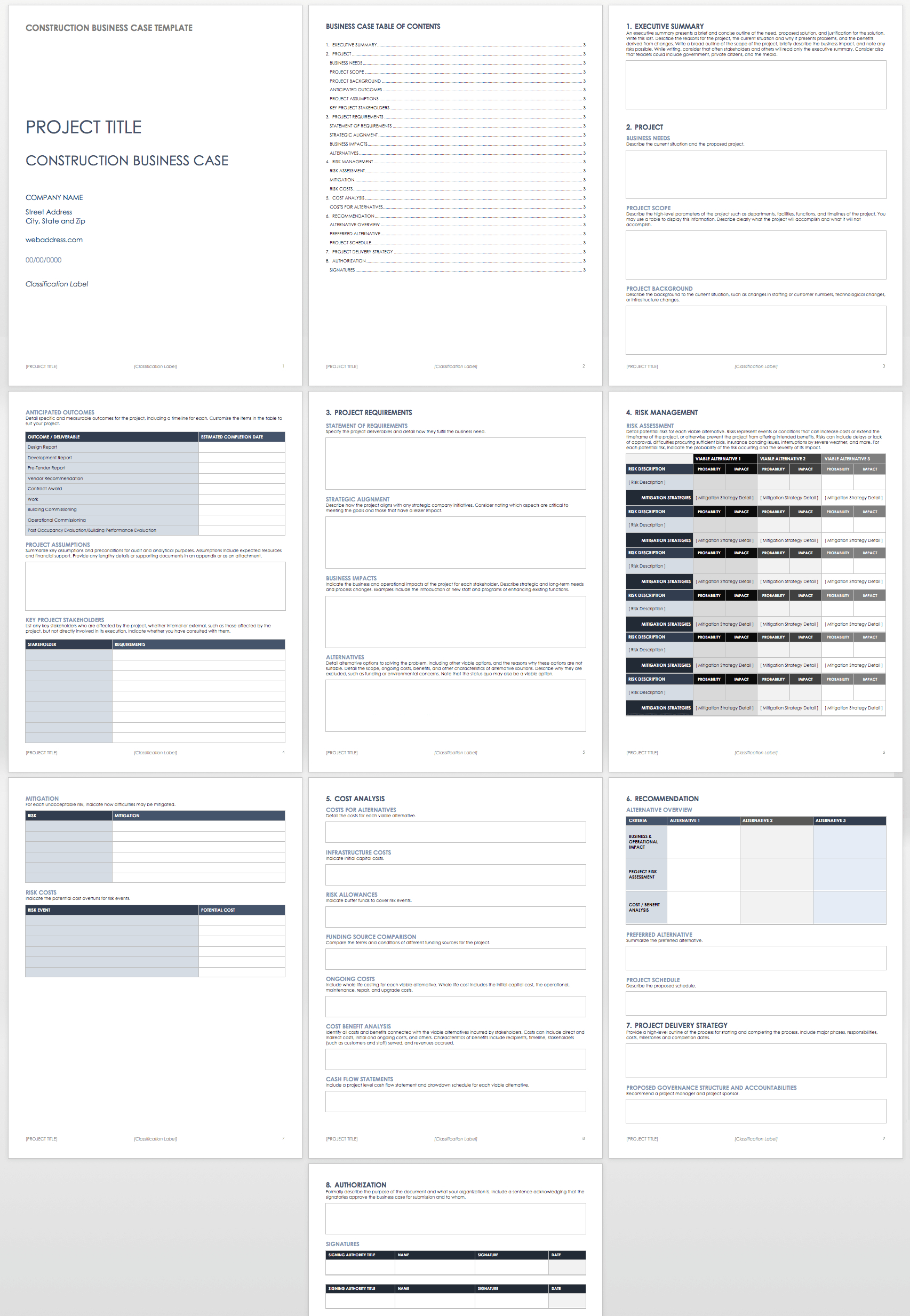 Ic Construction Business Case Template Word Imposing Ideas Uk Within Prince2 Business Case Template Word