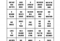 Icebreakers The Best Way To Get A Party Started  Ideas For Amy Pertaining To Ice Breaker Bingo Card Template