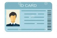 Id Card On White Background Business Identification Icon Stock for Personal Identification Card Template